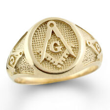 NEW Mens Solid 10K gold Masonic Ring Freemason Master Mason Solid Back QUALITY!