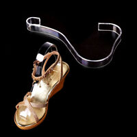 4X Women Clear Acrylic Plastic Sandal Lady Shoes Display Stand Inserts Holder SL