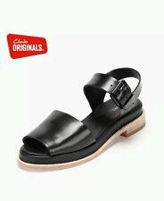 NEW Clarks Ladies Originals Sandals Madlen Sandal Black Leather Size 4 D