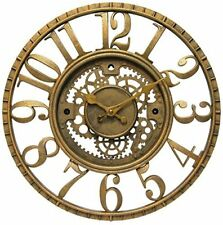 Wall Clock Infinity Instruments Gear Open Dial Resin Home Office Decor Fast