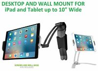 Universal Desktop Wall Holder Mount w/ 360° Rotation for Apple iPad Tablet Fire