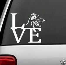 D1085 Saluki Afghan Hound Love Decal Sticker for Car Truck Suv Van Aristocrat