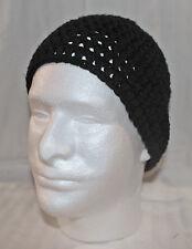 HANDMADE ZAC BROWN STYLE SKULL CAP BEANIE--NEW--black