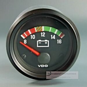 VDO VOLTMETER  INSTRUMENT GAUGE 12V  52mm Cockpit international Frontring black