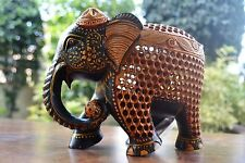 Elephant Figurine Animal Statue Hand Wild Lucky Miniature Trunk Carved womb Baby