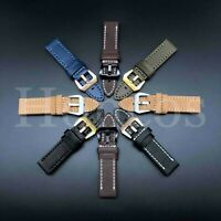 20 22 24 26 MM Watch Leather Strap Band Fits For Panerai Submersible Luminor USA