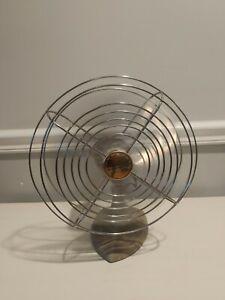 """Vintage Manning Bowman Metal Industrial 8"""" Desk Fan. Model 10503. Tested Works,"""