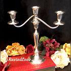 Vintage Sterling Silver Gorham Puritan  808   3 Arm Hollowware Candle Holder