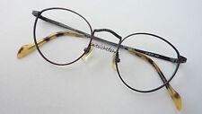 Fossil Brillenfassung Panto Metallgestell abgerundet schwarz braun Vintage sizeS