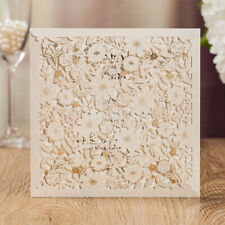 Elegant Laser Cut Wedding Invitations Cards Lace+ Free Personalized Printing