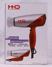 MHD  Travel Folding Ceramic Hair Dryer 1875 Watt w/Worldwide Dual Voltage