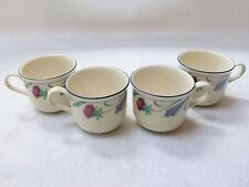 """Lenox Coffee Cups """"POPPIES ON BLUE"""" - Set of 4"""