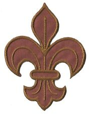 Parche escudo parche lirio marrón bordado temroadhesivo