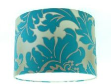 Lampshade Handmade from Majestic Teal Damask Wallpaper 30cm / 12""