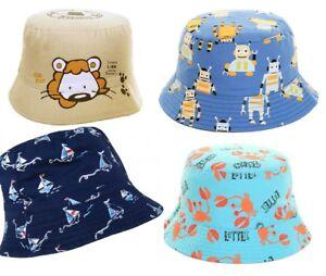 Cute Novelty Baby Toddler Boys Bucket Beach Floppy Sun Hat 100% Cotton Summer