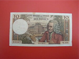 10   FRANCS  VOLTAIRE 1967  W 318