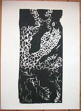 MATTHIAS MANSEN, Großer Original Holzdruck 1988, signiert