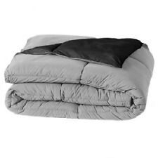 Home Classics Reversible Down-Alternative Comforter - Full/Queen Black/Grey NIP
