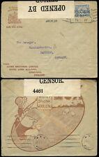 Pubblicità ILLUSTRATA 1918 LUX censurata LEVA BROS Liverpool PERFIN per la Danimarca