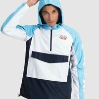Ellesse Mens Jacket Lightweight Hooded Track Top Logo Blue Mercuro RRP £70