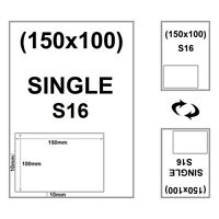 1000 x S16 Single Integrated labels Style A4 Peel off Royal Mail 2D 150 x 100mm
