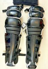 """Nike Vapor Unisex Catcher's Leg Guards Size 18"""" Black   White [DE3539]"""