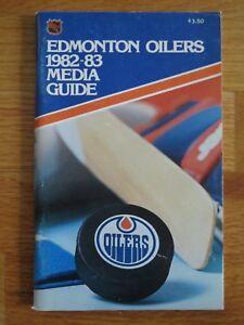 1982-83 EDMONTON OILERS Media Guide WAYNE GRETZKY MARK MESSIER FUHR COFFEY KURRI