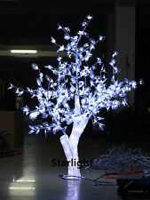 5FT LED Christmas Light Crystal Cherry Blossom Tree with White Leafs Outdoors