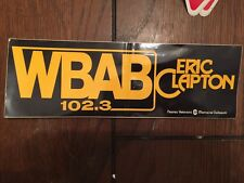 Vintage Rare Eric Clapton WBAB 102.3  Radio Real Rock Bumper Sticker New York