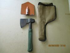 RUSSIAN MILITARY COMBINATION SURVIVAL AX, SHOVEL,& KNIFE WITH CARRYING POUCH