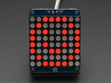 "Adafruit Small 1.2"" 8x8 LED Matrix w/I2C Backpack - Red [ADA1049]"