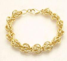 "8.25"" Bellezza Modified Byzantine  Circle Rolo Link Bracelet Yellow Bronze"