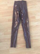 NWT Commando Burgundy Faux Patent Leather Leggings Size S