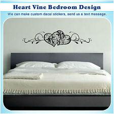 Heart Vine Wall Bed Decor Vinyl Stickers Art Mural Home Deco DIY Decal S031