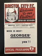 More details for 11.9.1948. bristol city v exeter city, (div 3 south).