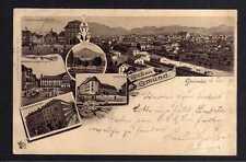 111850 AK Gmünd Litho 1896 Bahnhof Rechberg Lehrerseminar Kaserne Oberer Markt