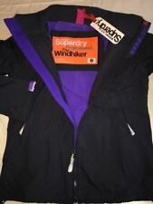 Superdry Polar Windhiker Jacket Dark Charcoal Grey Size S