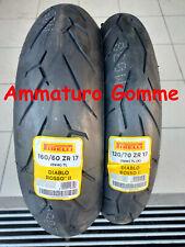 COPPIA 120/70 17 160/60 17 +OMAGGIO PIRELLI DIABLO ROSSO 2 GOMME PNEUMATICI MOTO