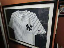 Whitey Ford Signed/Framed Dbl Mat Russel  Front Jersey  Yankees SMC