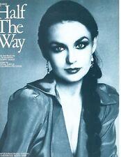 "CRYSTAL GAYLE ""HALF THE WAY"" SHEET MUSIC-1979-RARE-PIANO/VOCAL/GUITAR/CHORDS-NEW"