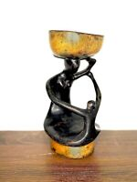 Hand Carved  Painted Africa Art African  Ghana  Wood Wooden (3025 - K )