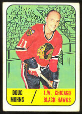 1967 68 TOPPS HOCKEY #63 DOUG MOHNS VG-EX CHICAGO BLACK HAWKS CARD