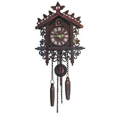 Handcraft Cuckoo Clock Tree House Swing Wall Clock Beautiful Home Decor 1pc
