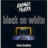 Heiner GOEBBELS Black on White CD RCA Ensemble Modern Heiner Muller