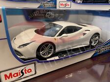 Maisto 1:18 Scale Special Edition Diecast Model Car - Ferrari 488 GTB (White)
