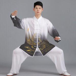 Gradient Kung Fu Tai Chi Suit Martial Arts Wushu Uniform Clothes Mens Womens New