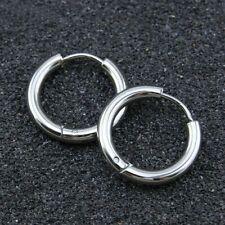 1pair Fashion Jewelry Titanium Steel Hoop Buckle Earrings Studs Men Women Circle