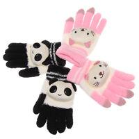 écran tactile Peluche de corail Dessin animé Gants Gant en tricot Panda lapin