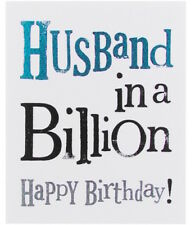 THE BRIGHT SIDE GREETING CARD: HUSBAND IN A BILLION... - NEW IN CELLO
