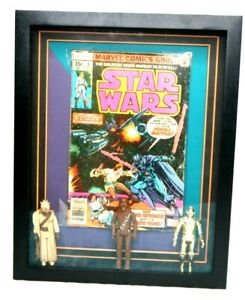 Star Wars Comic #6 Display Vintage Kenner Action Figure Lot Chewbacca C-3PO 1977